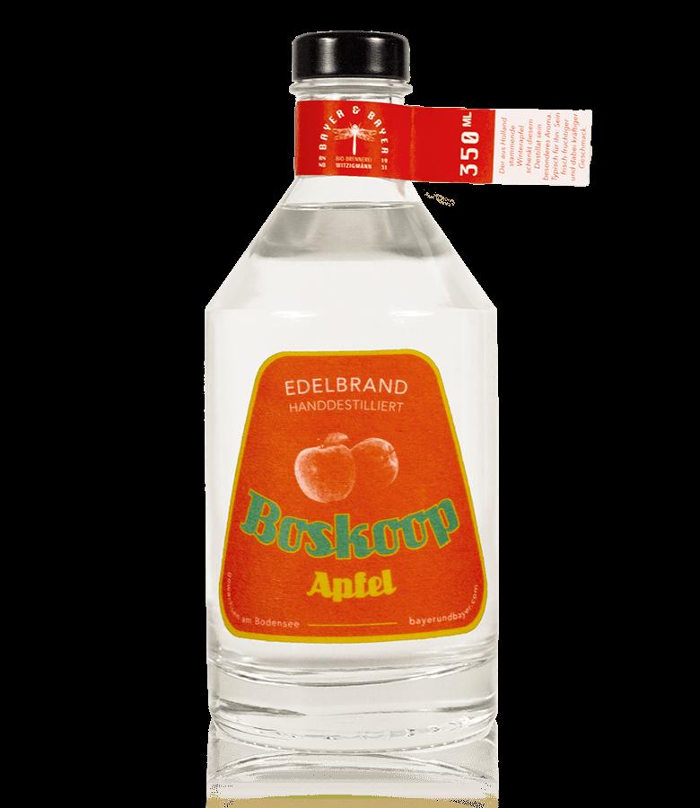 Bayer und Bayer Bio Edelbrand Boskoop Apfel Freisteller