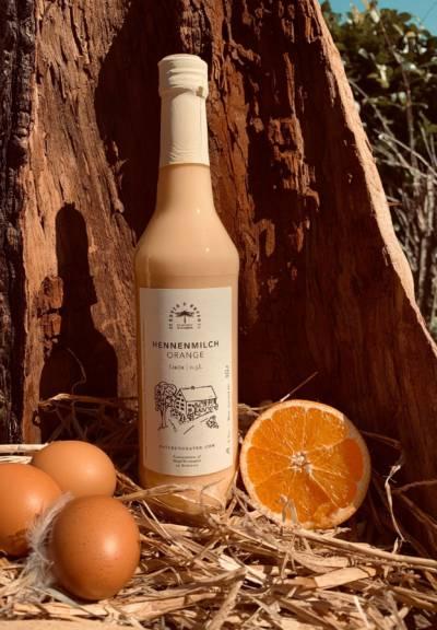 Hennenmilch Orange Eierlikör mit Orange und Eiern