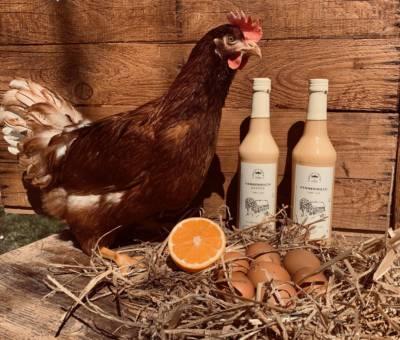 Huhn Herta mit Hennenmilch Eierlikör