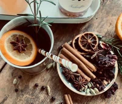 Winter-Glüh Gin mit Botanicals