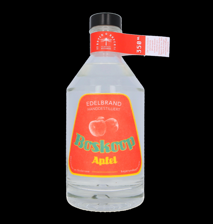 Boskoop Apfel Bayer und Bayer Edelbrand Bioland 350ml